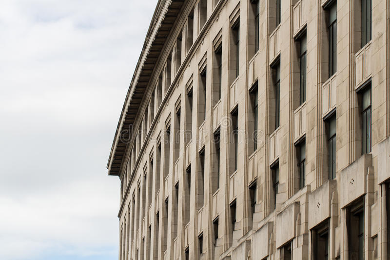Wide Imposing Building stock image