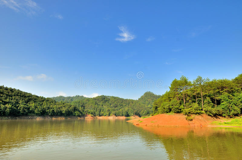 Wide Landscape In Taining JinHu Lake Area, China Stock Image
