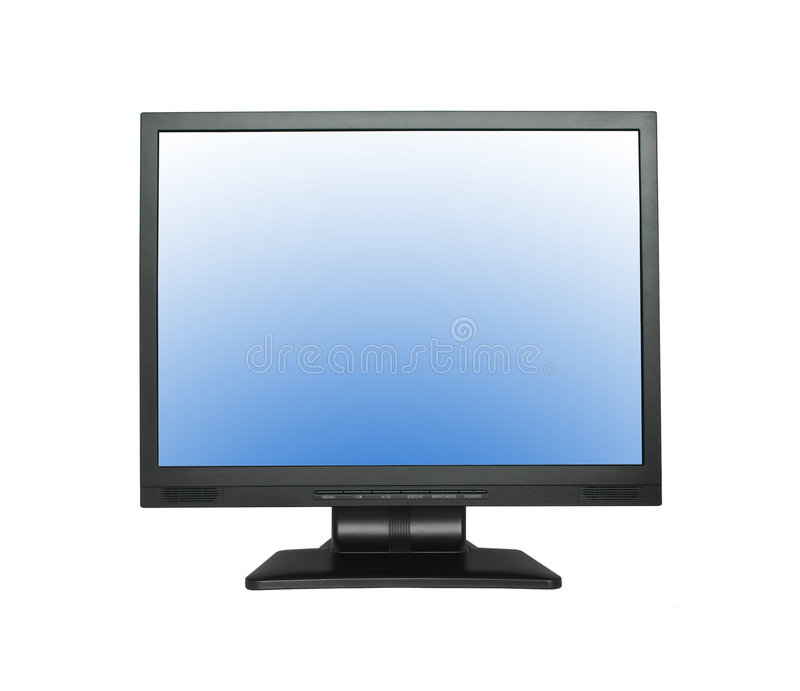 Wide LCD Screen Royalty Free Stock Image