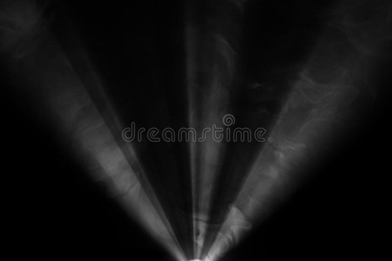 Wide lens projector with light beam . screening for multimedia . abstract background . stock images
