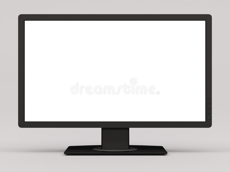 Wide monitor screen stock image