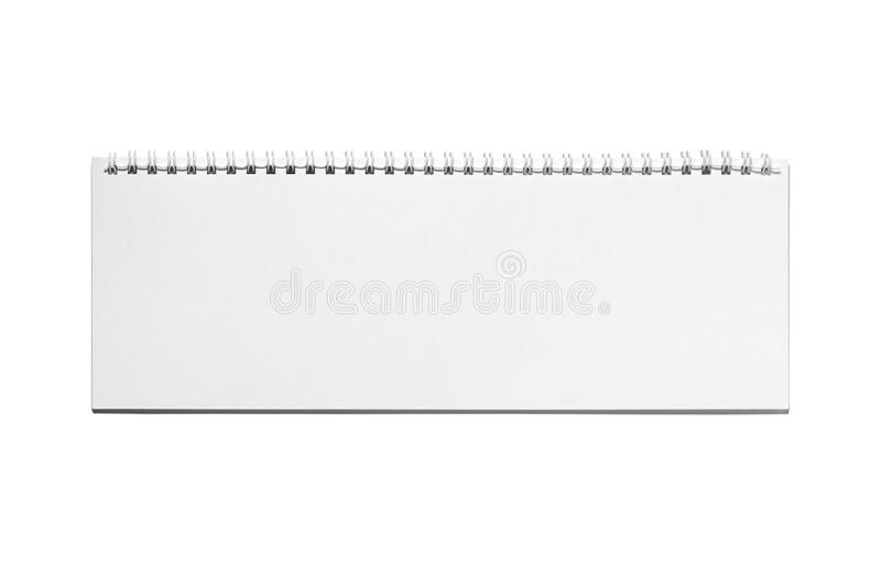 Wide note pad stock photos