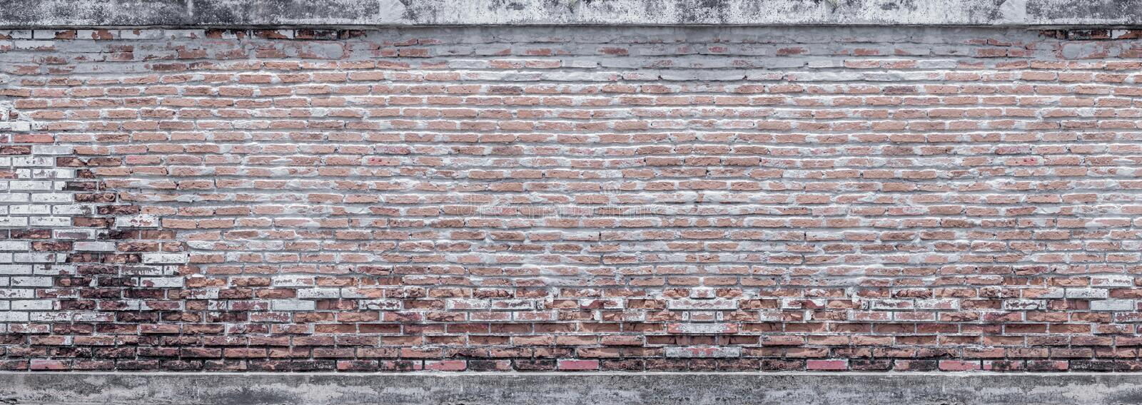 Wide old brick wall , vintage brick wall  in a background image. Wide old brick wall pattern , vintage brick wall  in a background image royalty free stock images