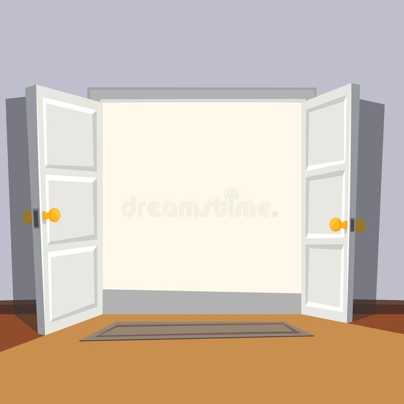 Free Wide Open Doorway From The Room. Welcome To Real World. Royalty Free Stock Photos - 111822238