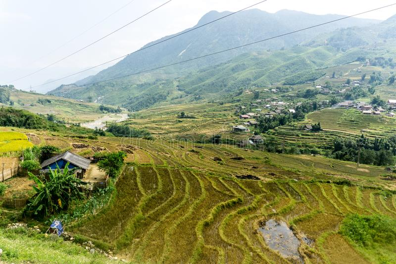 Wide Open Landscape View in Sapa royalty free stock photography