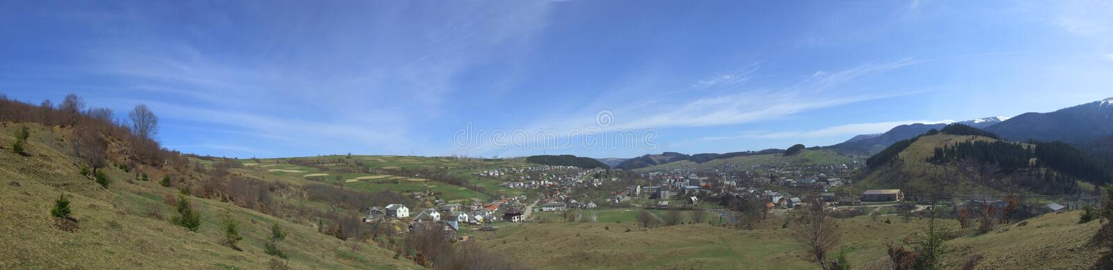 Wide panorama of countryside stock image