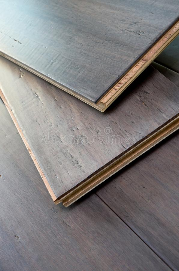 Wide Plank Bamboo Flooring. Wide plank solid bamboo flooring pieces tongue and groove design stock images