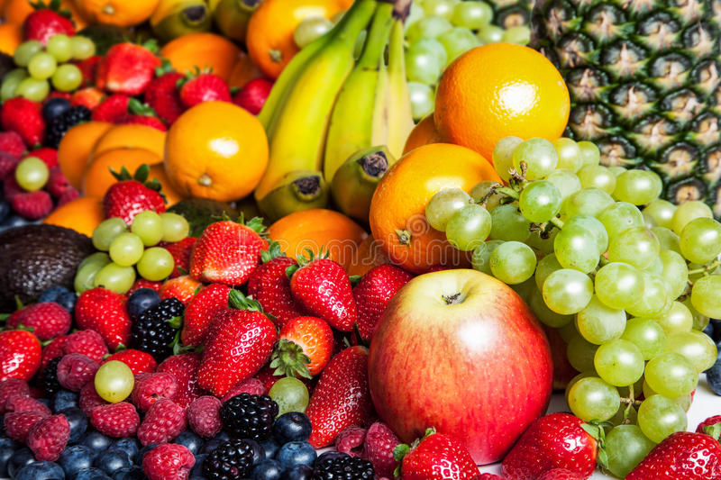 A wide range of fruit,. Vitamins and healthy royalty free stock images