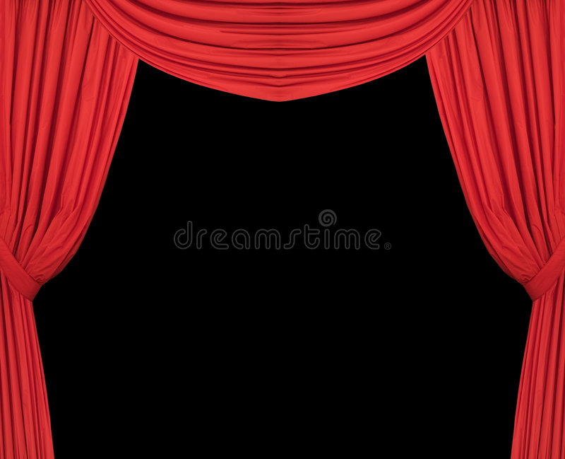 Download Wide Red Theatre Curtains Royalty Free Stock Photos - Image: 4217048