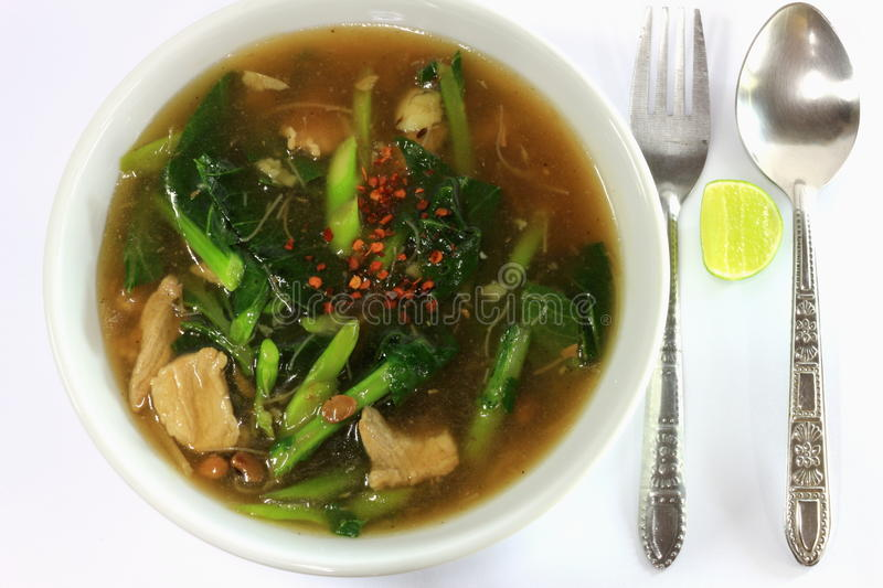 Wide Rice Noodles stock photo