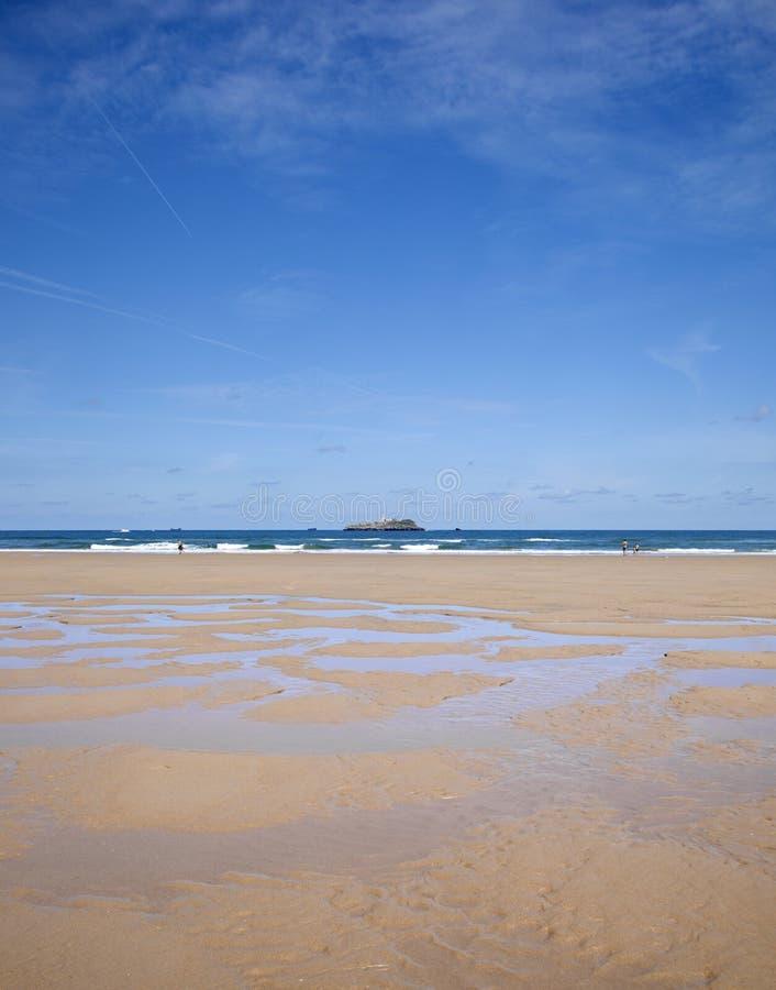 Wide sandy beach El Puntal royalty free stock image