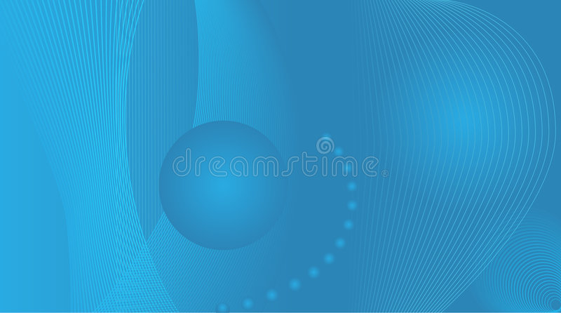 Wide screen blue abstract royalty free illustration