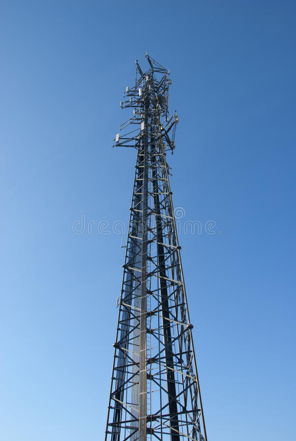 Wide shot of cell tower stock images
