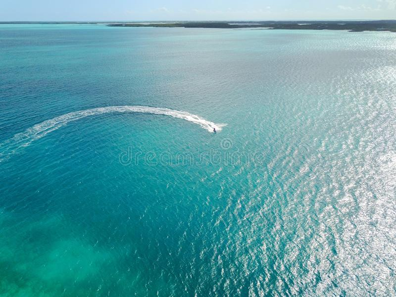 Wide shot of an ocean in Exuma. A wide shot of an ocean in Exuma stock image
