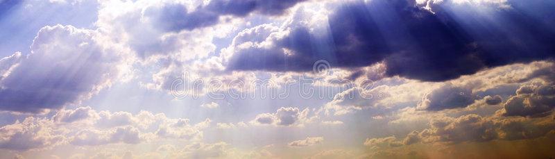 Download Wide sky with clouds stock photo. Image of shine, white, clouds - 1268