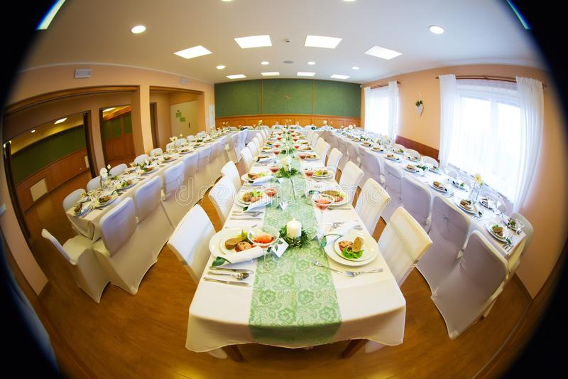 Download Wedding hall stock image. Image of arrangement, decoration - 102396575