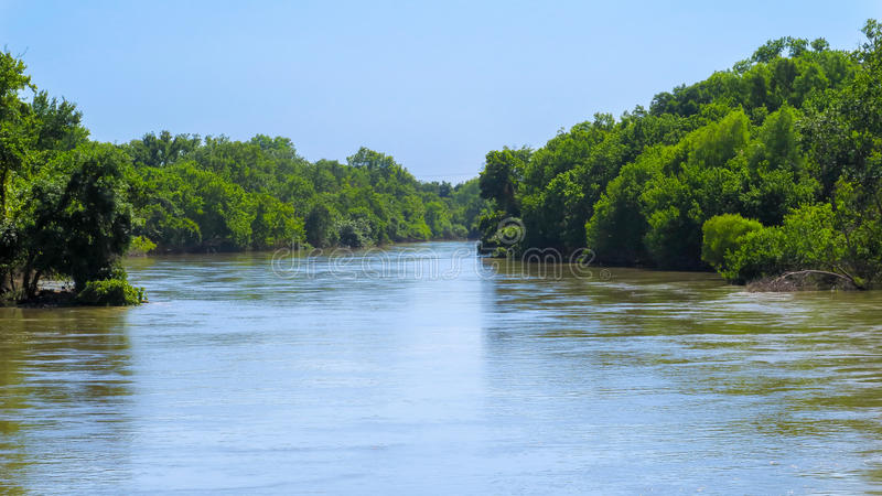 A wide spot in the Colorado River near Hornsby stock images