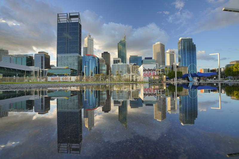 City view of Perth City at daylight stock images