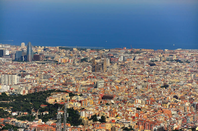 Download Wide View Of Barcelona Spain Stock Photo - Image: 18633590