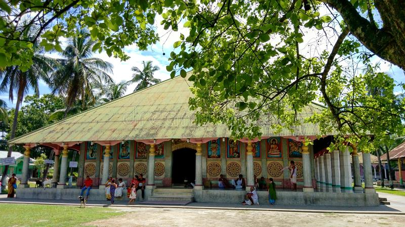 Wide view of Barpeta Satra. 11th July 2018, Barpeta, Assam, India. Wide view of Barpeta Satra. Satra is a religious place of Assamese people stock photo