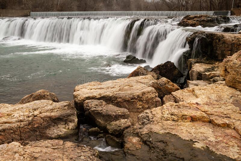 View of Grand Falls in Missouri stock images