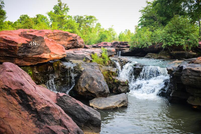 Wide view of lalpather seems beautiful in Jharsuguda, Odisha in India. Lalpather is a picnic place in Jharsuguda, Odish, India . lalpather is also famous for royalty free stock photos
