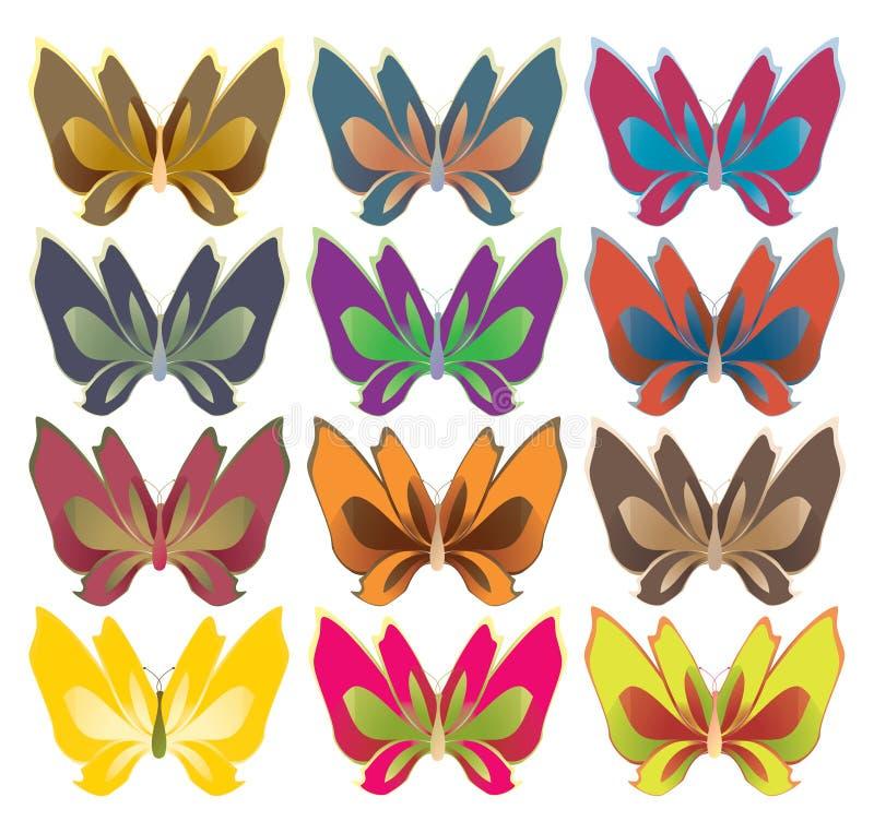 Wide wing butterflies royalty free illustration