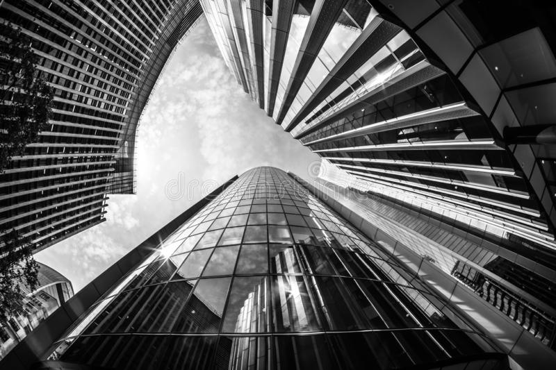 A wideangle image of London City offices royalty free stock images