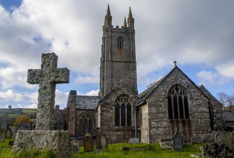 Widecombe kyrka royaltyfri bild