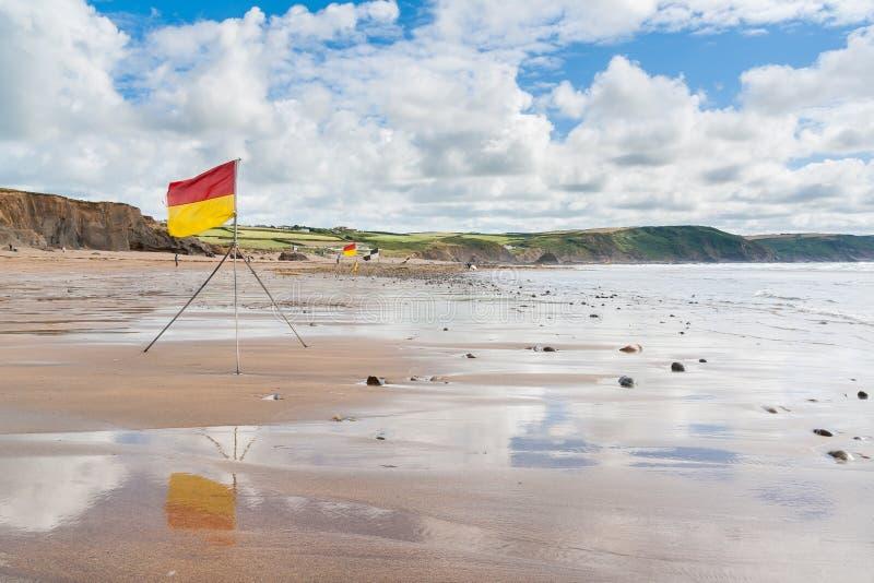 Widemouth Schacht Cornwall lizenzfreie stockfotos