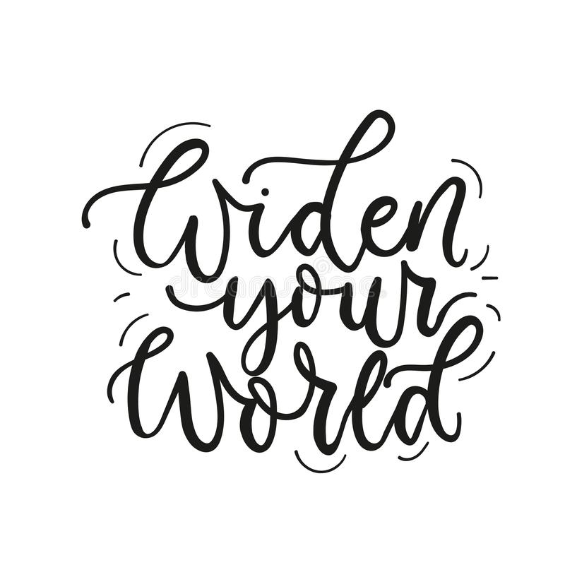 Widen your world poster vector card vector illustration