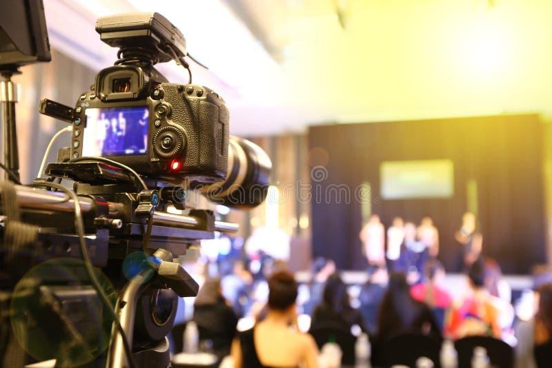 Wideo DSLR kamery ogólnospołecznej sieci żywy nagranie zdjęcie stock