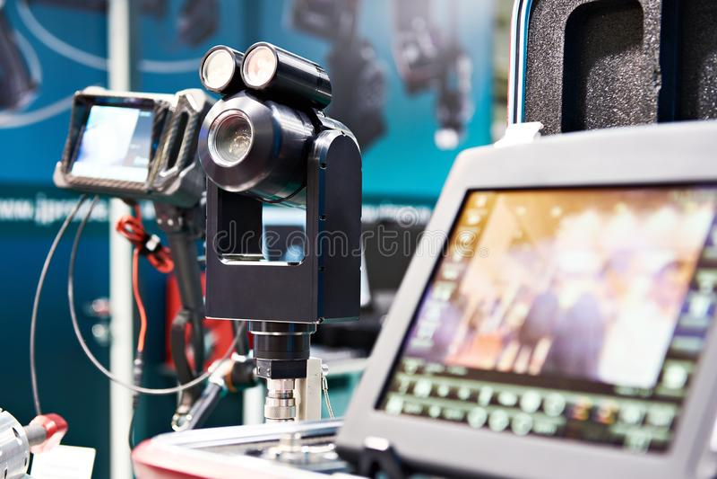 Wideo endoskop System wizualna inspekcja i inspekcja zbiorniki, zbiorniki, drymby fotografia stock