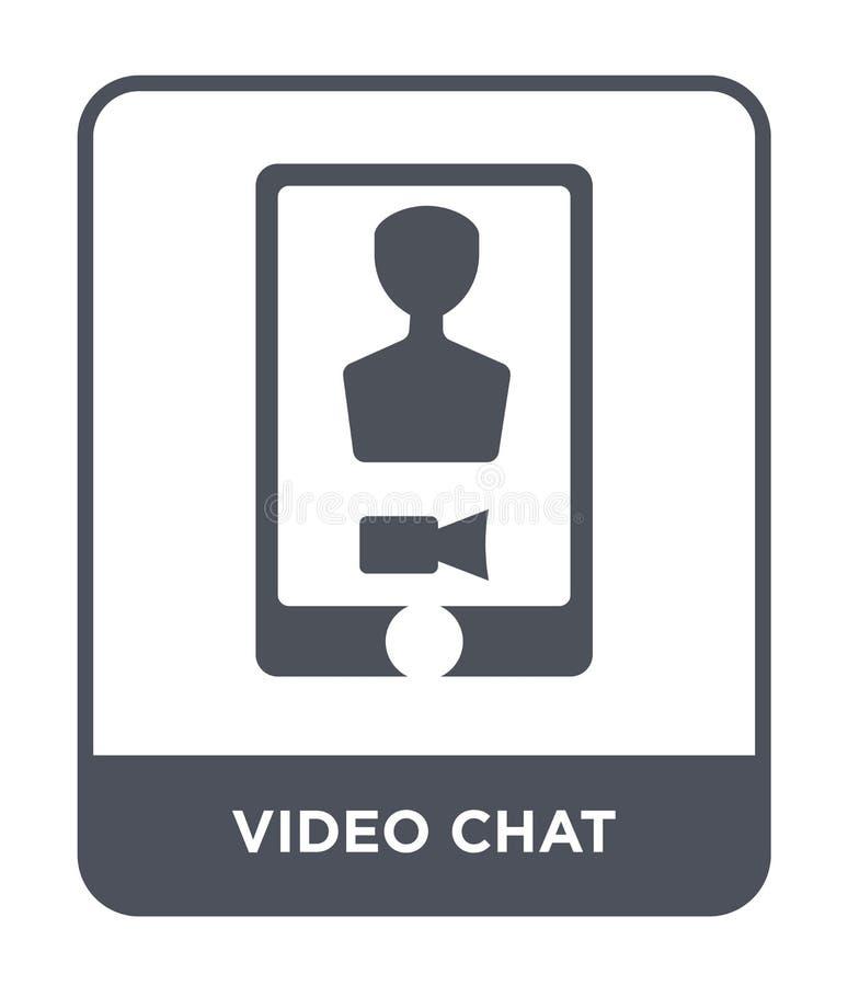 wideo gadki ikona w modnym projekta stylu Wideo gadki ikona Odizolowywająca na Białym tle wideo gadki wektorowa ikona prosta i no ilustracja wektor