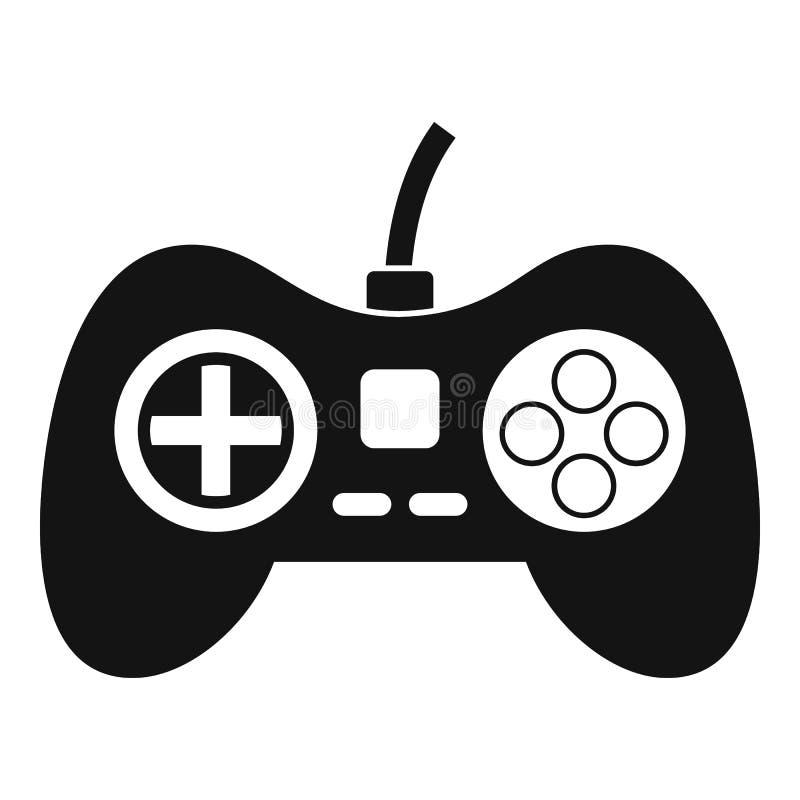 Wideo gry konsoli kontrolera ikona, prosty styl royalty ilustracja