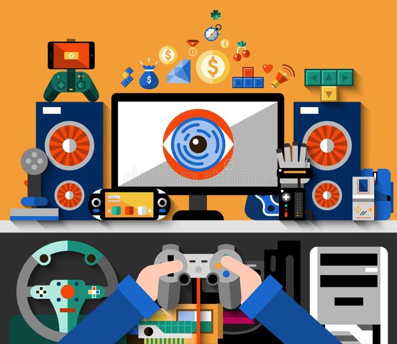 Wideo gry pojęcie ilustracji