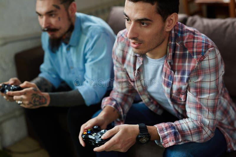Wideo gry rywalizacja zdjęcie stock