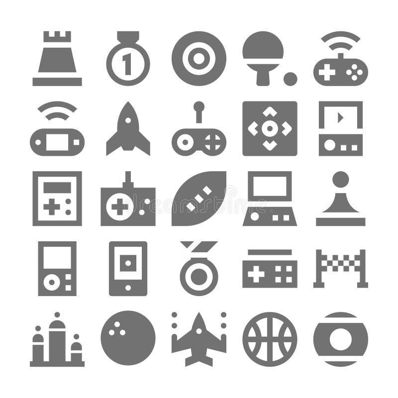 Wideo gry Wektorowe ikony 5 ilustracji