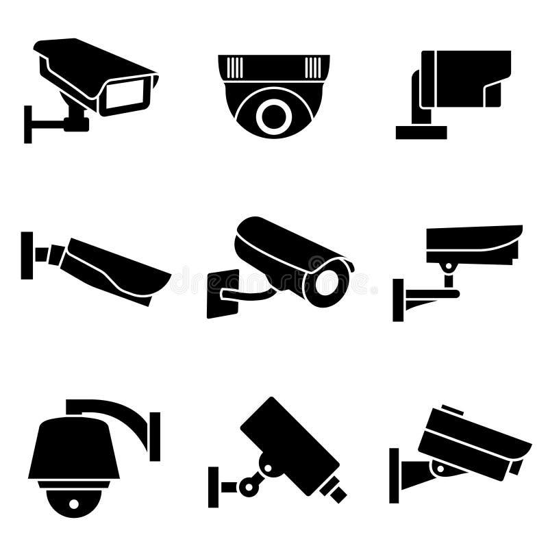 Wideo inwigilacj kamery bezpieczeństwa ilustracji
