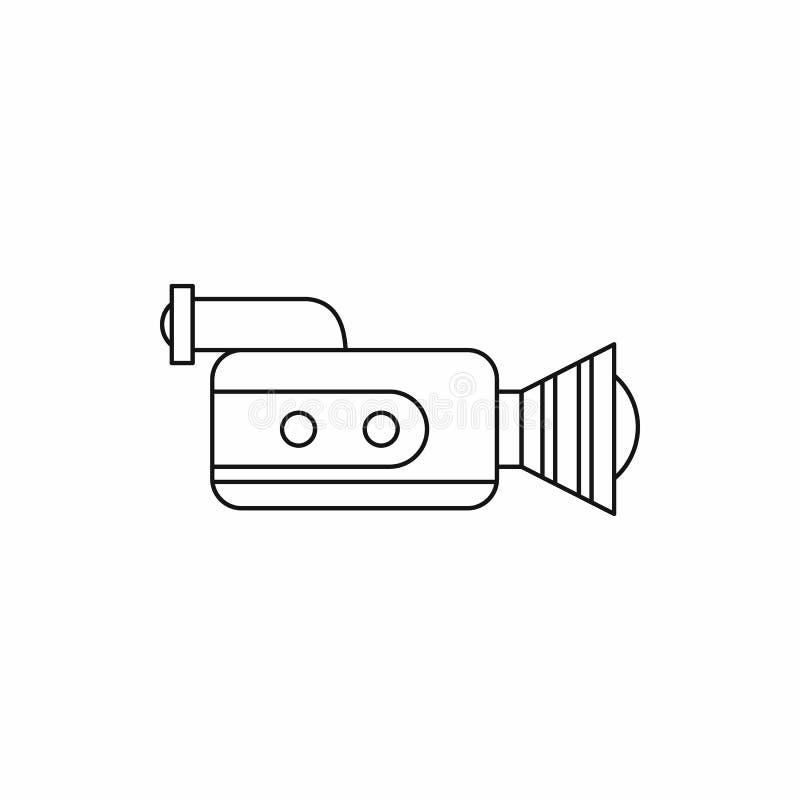 Wideo kamera wideo z wideo kasety ikoną obrazy stock
