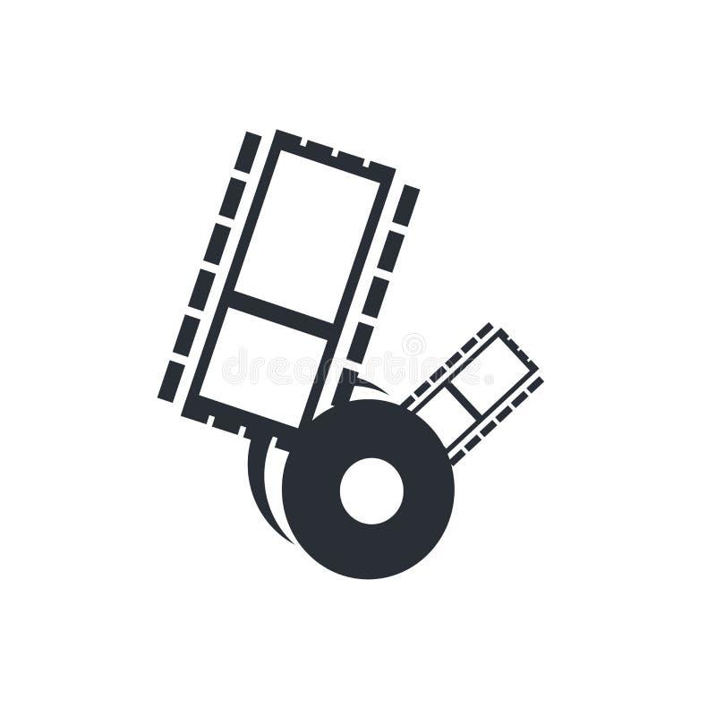 Wideo kartoteki ikony wektoru znak i symbol odizolowywający na białym tle, Wideo kartoteki logo pojęcie ilustracji