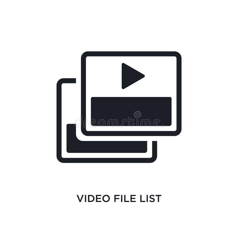 wideo kartoteki listy odosobniona ikona prosta element ilustracja od elektronicznych materiał pełni pojęcia ikon wideo kartoteki  ilustracji
