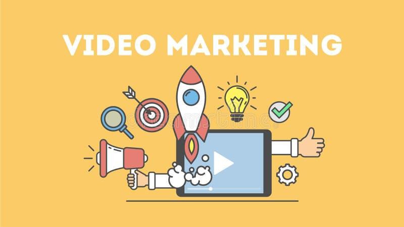 Wideo marketingowy pojęcie ilustracja wektor