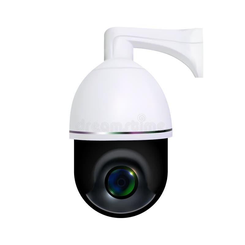 Wideo Online inwigilacji kamery bezpieczeństwej wektor ilustracji