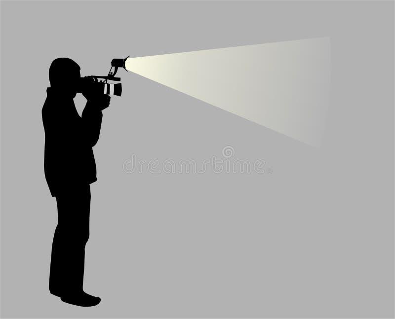 wideo operatora royalty ilustracja