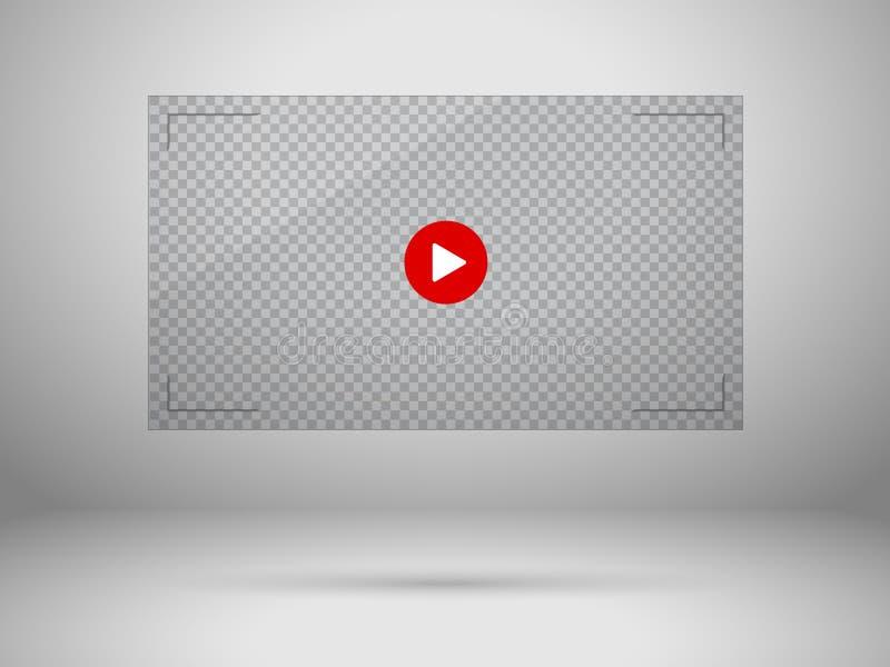Wideo parawanowa ilustracja obrazy stock