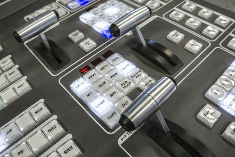 Wideo produkci Switcher telewizi transmisja zdjęcie stock