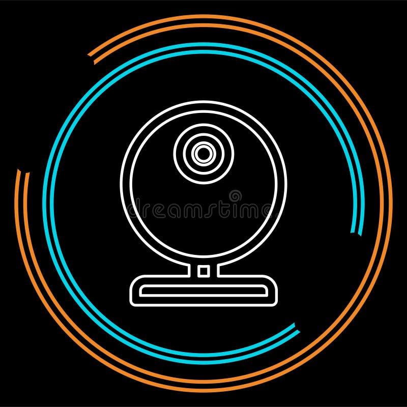 Wideo sieci krzywka - gawędzi kamery ikonę, wektorowa kamera internetowa ilustracja wektor