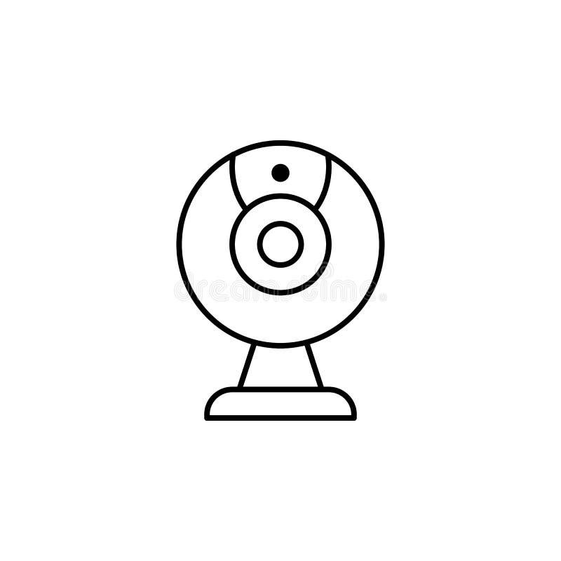 Wideo sieci krzywka - gawędzi kamery ikonę, wektorowa kamera internetowa odizolowywająca ilustracji
