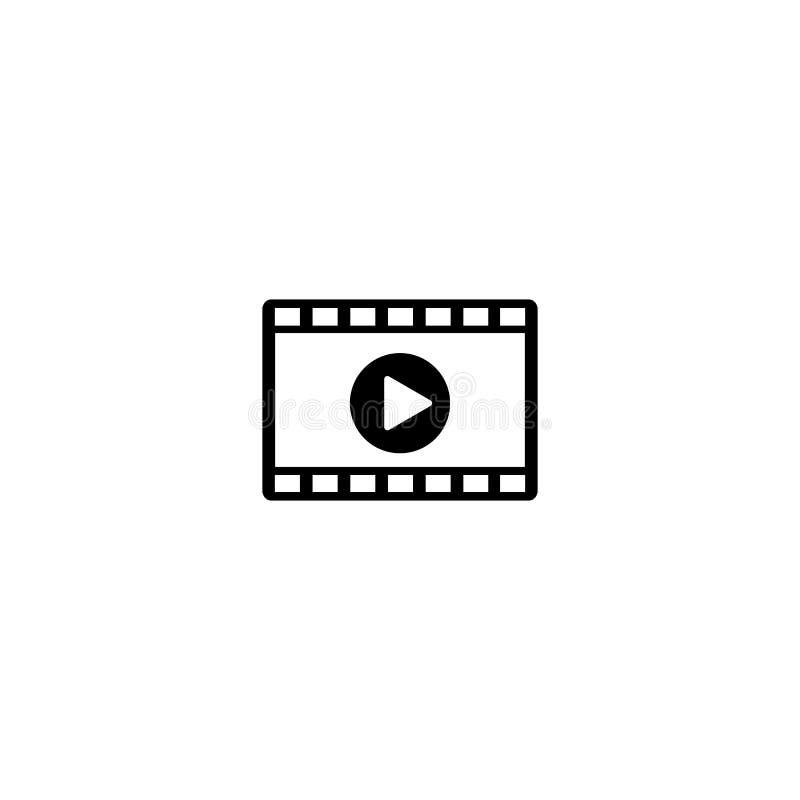 Wideo wektorowa ikona na bielu ilustracji